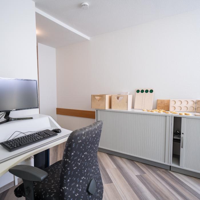 Büro in der Klinik Mbor