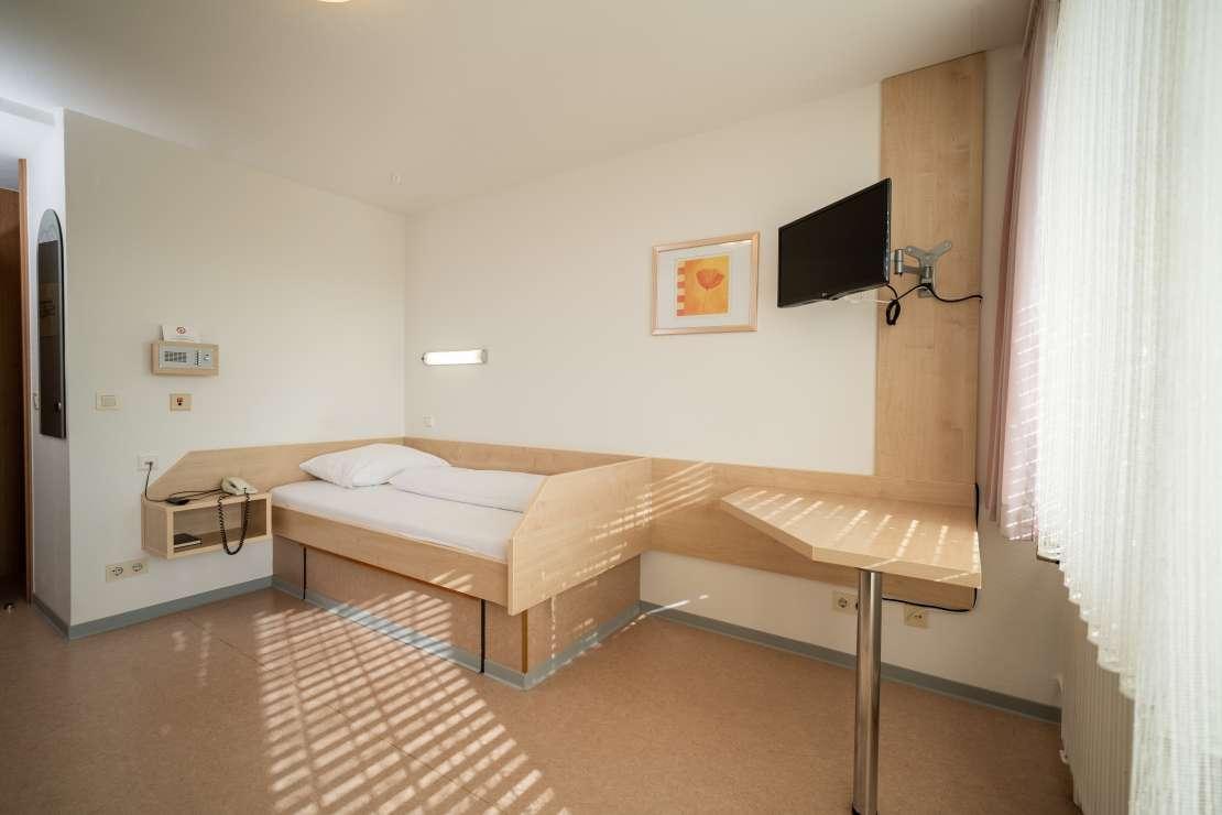 Zimmer in der Rheintalklinik – für gute Erholung